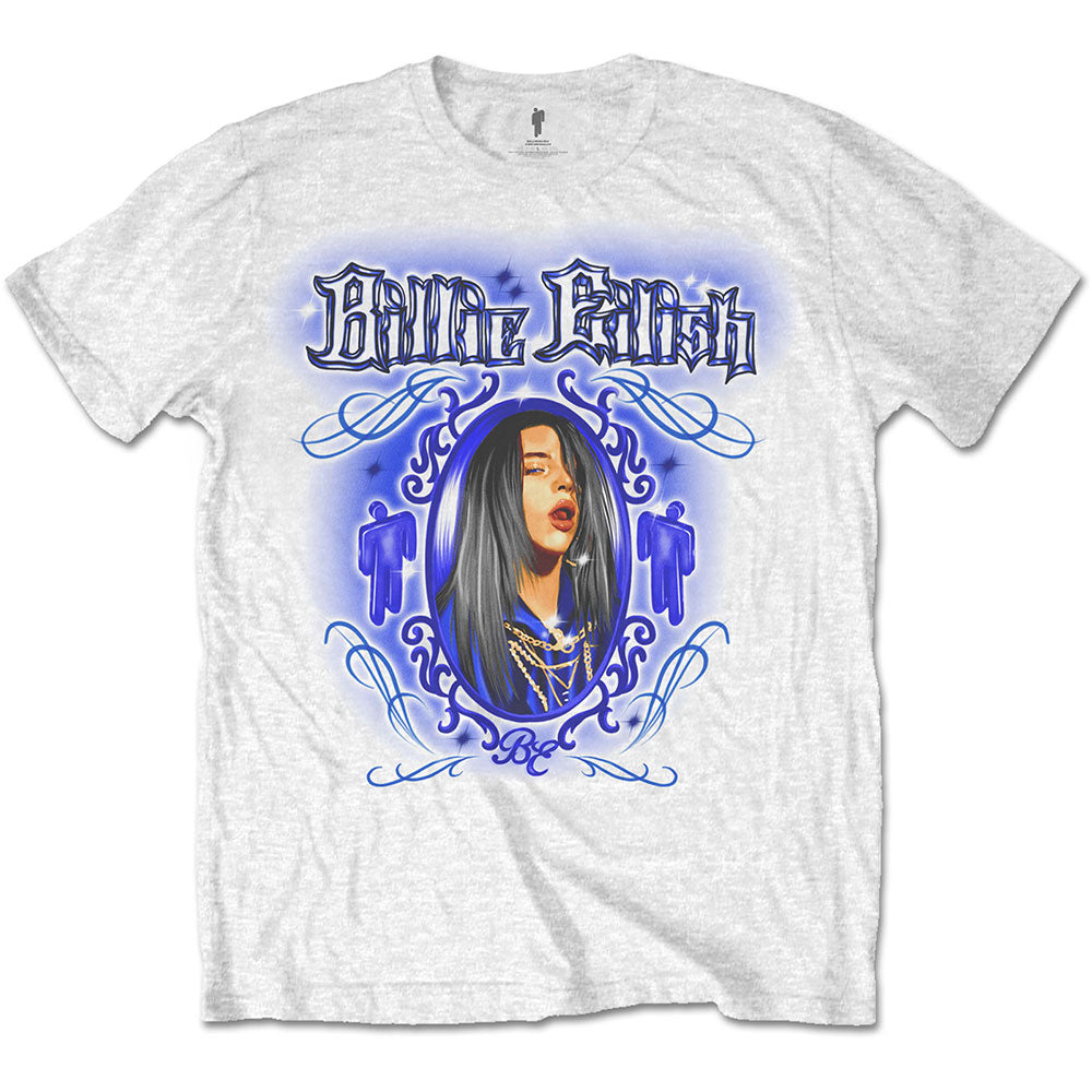 Billie Eilish Unisex Tee: Airbrush (White) - House of Merch