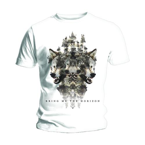Bring Me The Horizon Unisex Tee: Wolven Version 2 (White) - House of Merch