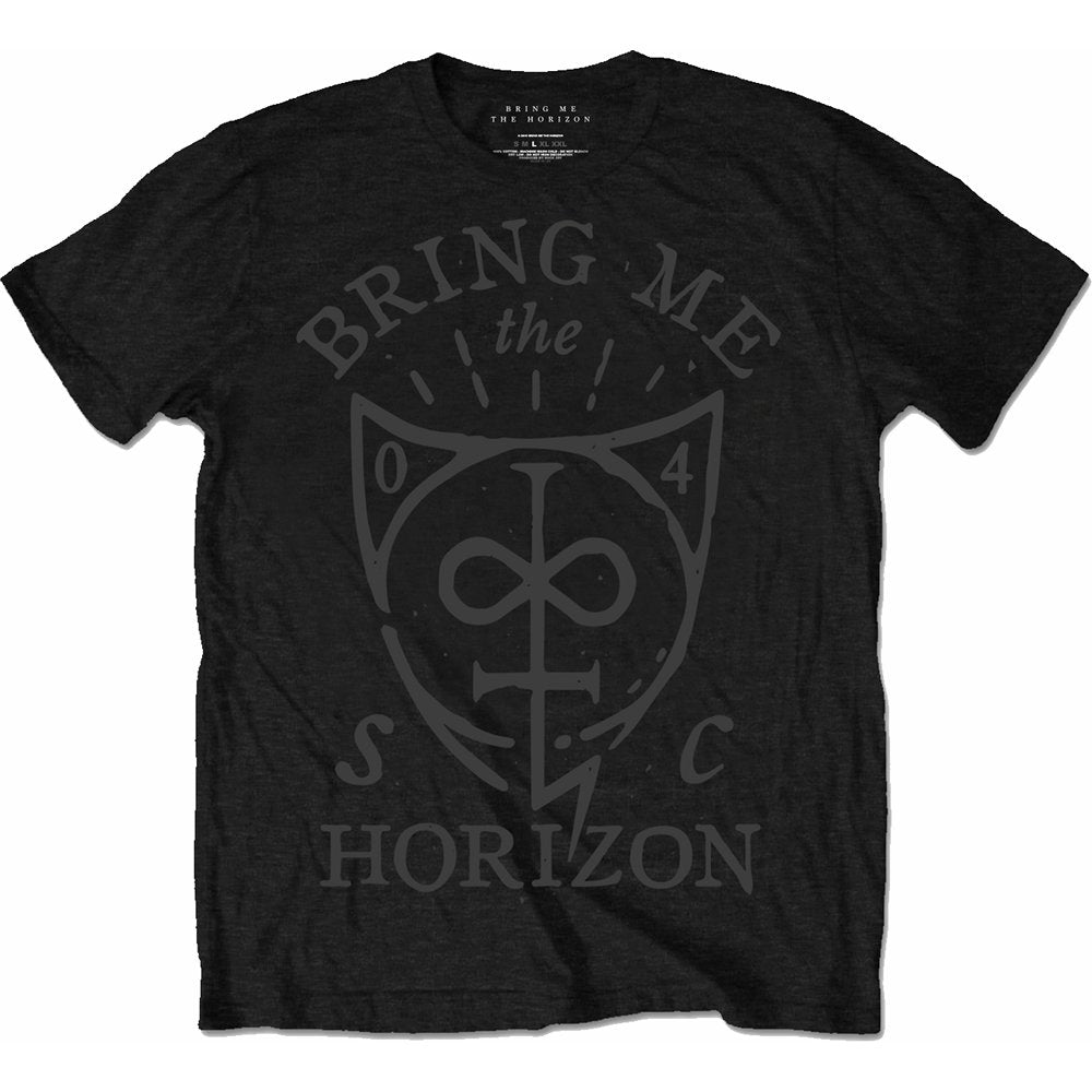 Bring Me The Horizon Unisex Tee: Hand Drawn Shield (Black) - House of Merch