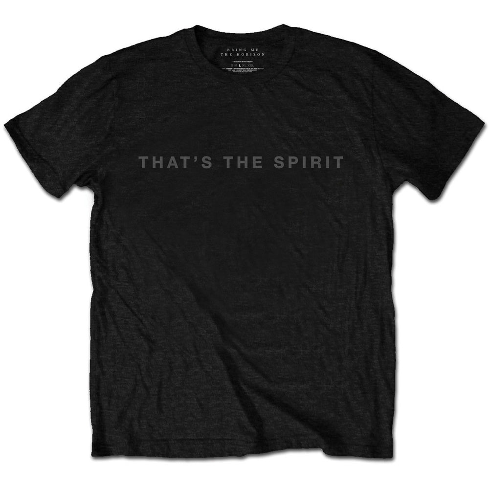 Bring Me The Horizon Unisex Tee: That's the Spirit (Black) - House of Merch