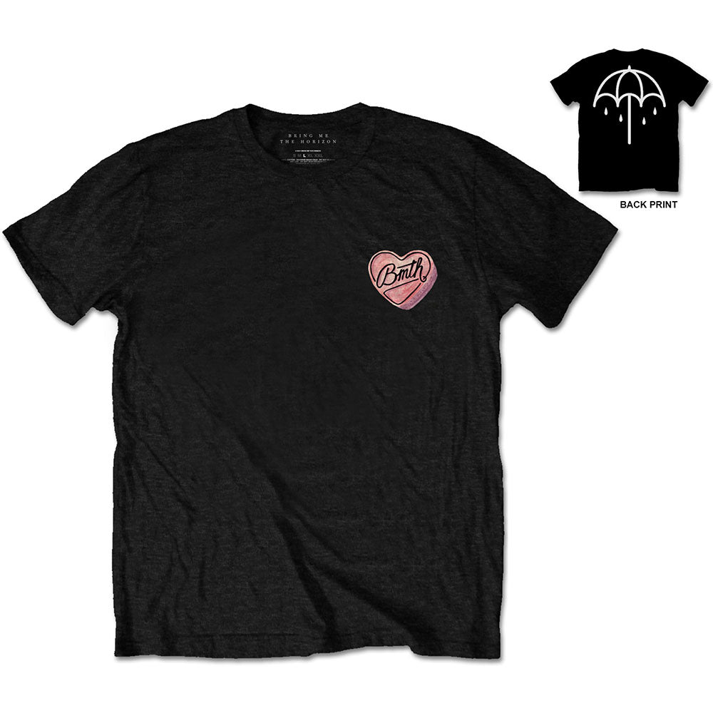 Bring Me The Horizon Unisex Tee: Hearted Candy (Black) - House of Merch