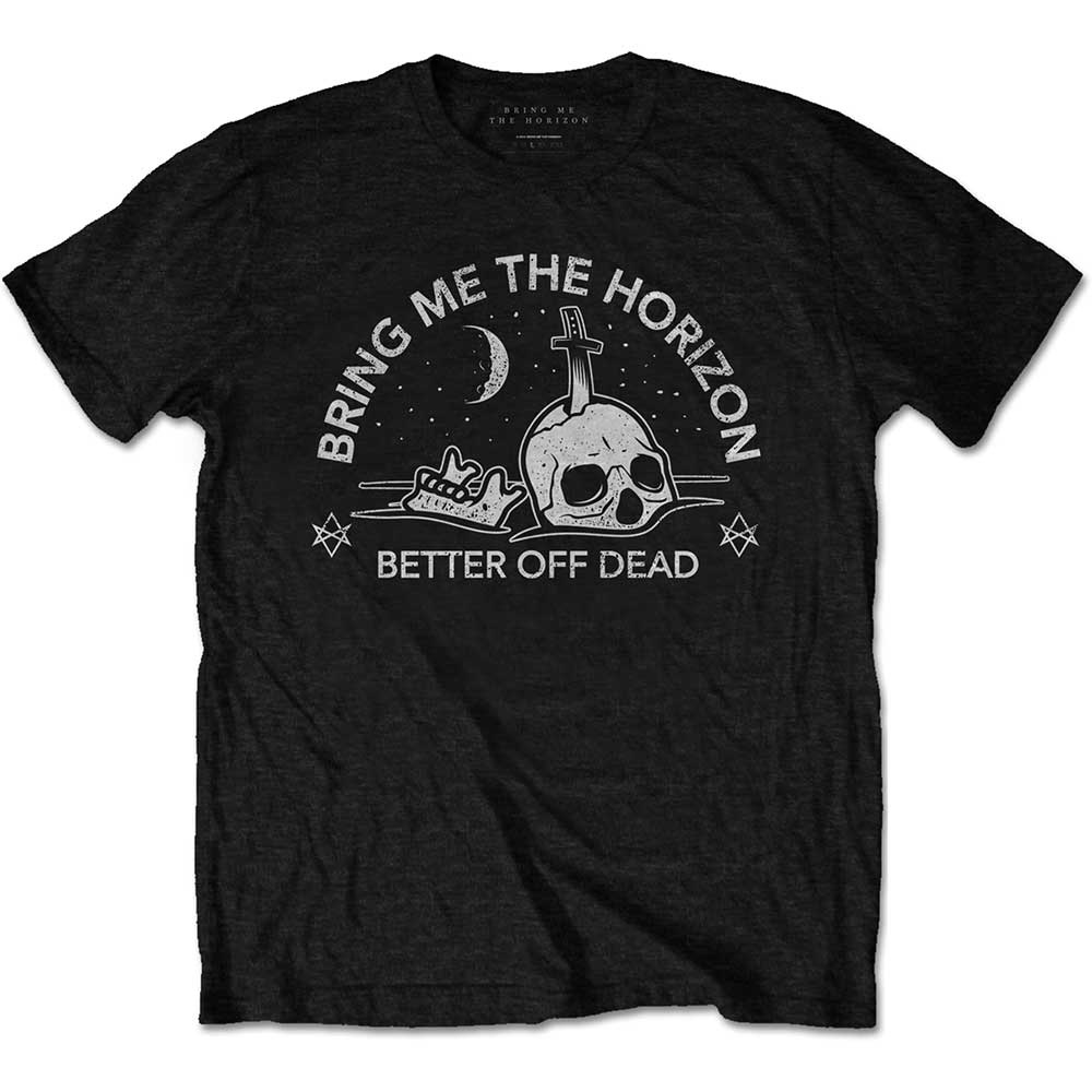 Bring Me The Horizon Unisex Tee: Happy Song (Black) - House of Merch