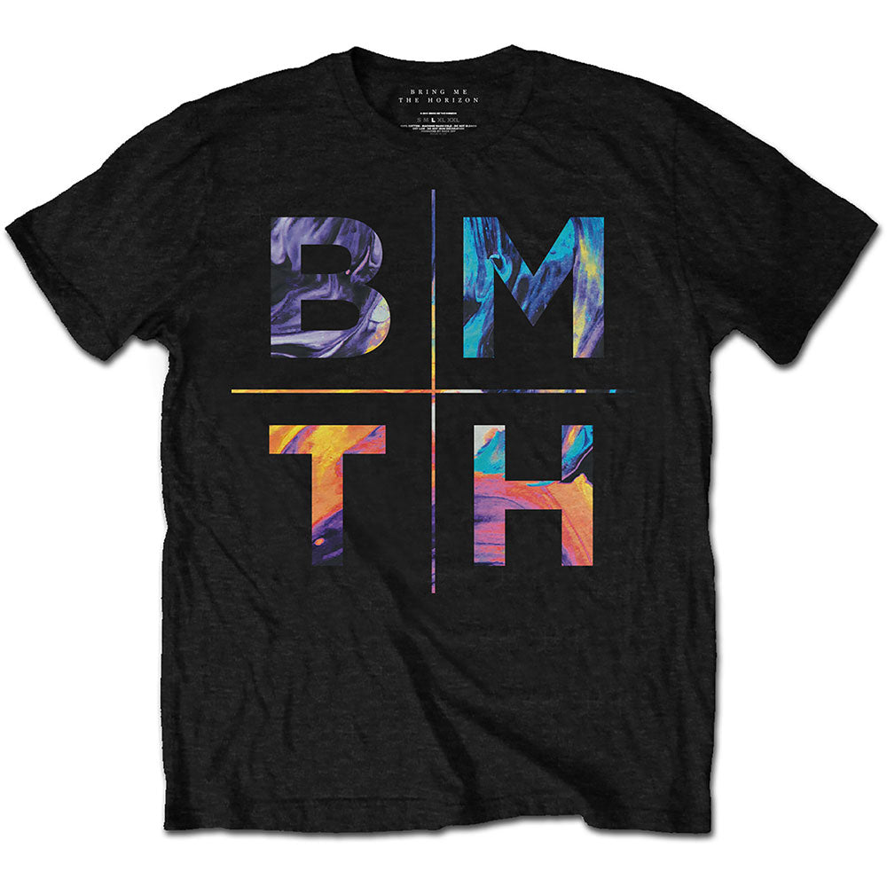 Bring Me The Horizon Unisex Tee: Colours (Black) - House of Merch