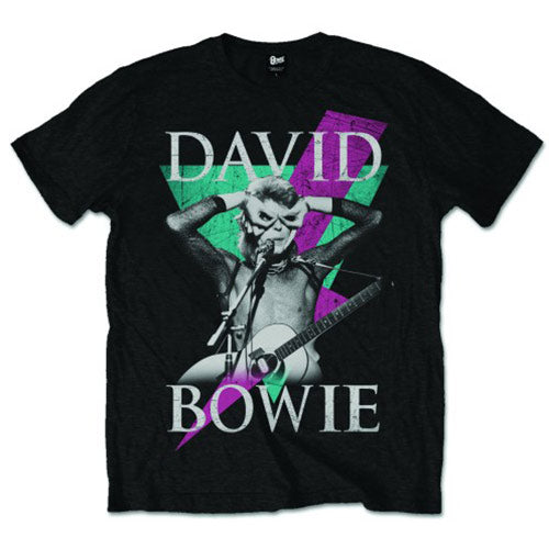 David Bowie Unisex Tee: Thunder (Black)