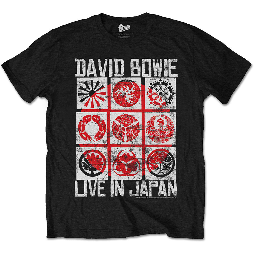 David Bowie Unisex Tee: Live in Japan (Black) - House of Merch