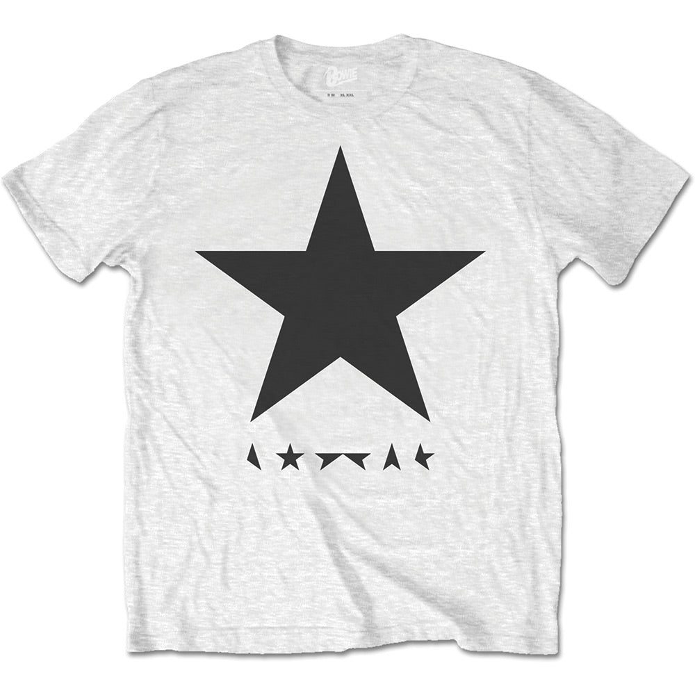 David Bowie Unisex Tee: Blackstar (on White) (White) - House of Merch