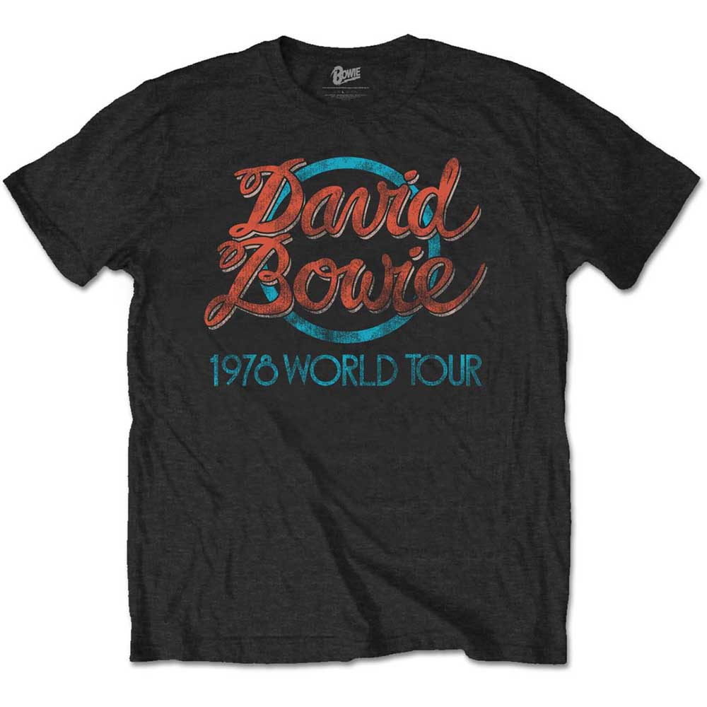 David Bowie Unisex Tee: 1978 World Tour (Black) - House of Merch