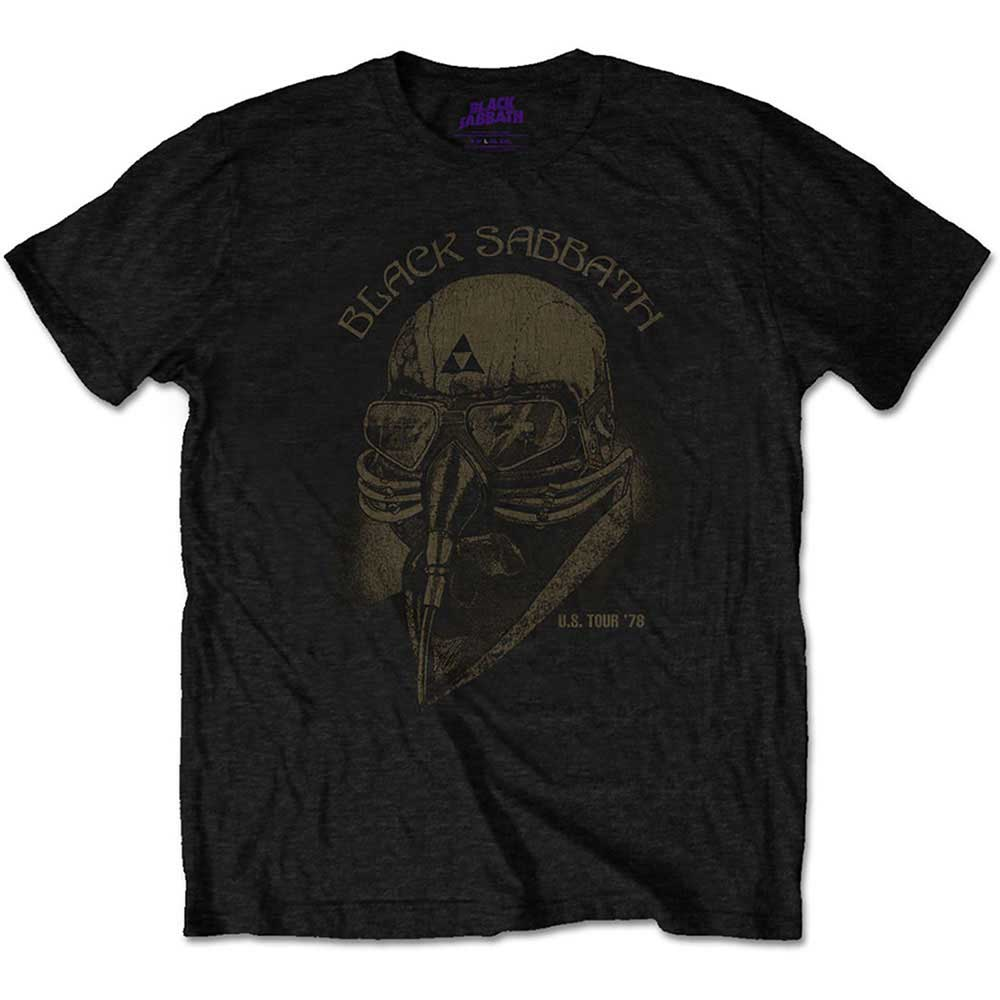 Black Sabbath Kids Tee: US Tour 1978 Avengers (Retail Pack) (Black) - House of Merch