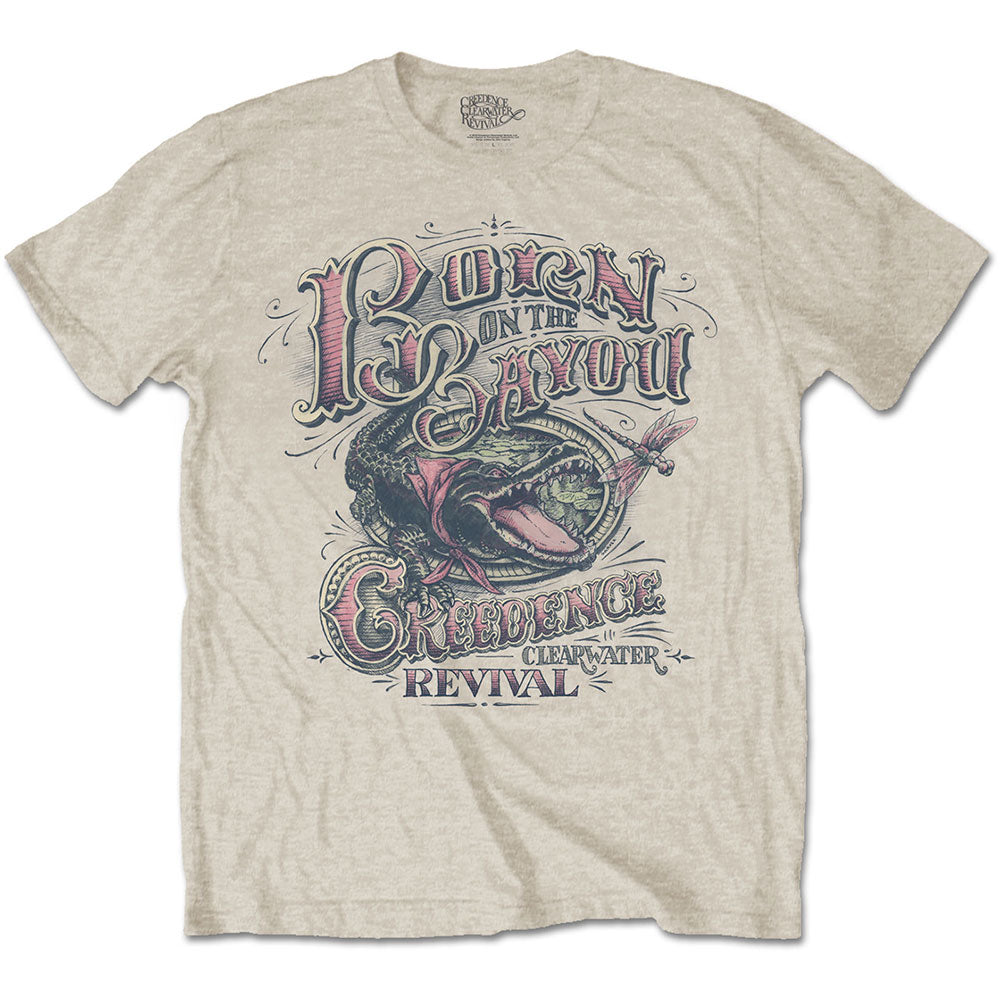 Creedence Clearwater Revival Unisex Tee: Born on the Bayou (Sand) - House of Merch