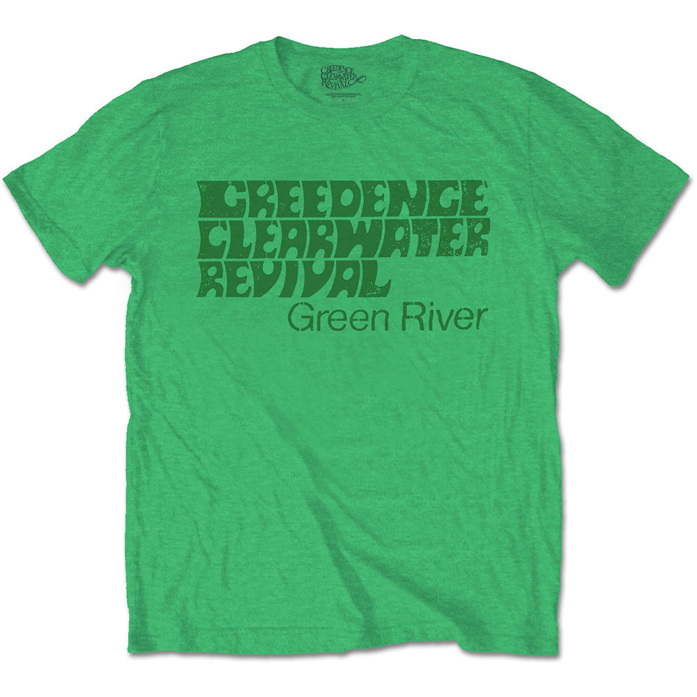 Creedence Clearwater Revival Unisex Tee: Green River (Irish Green) - House of Merch
