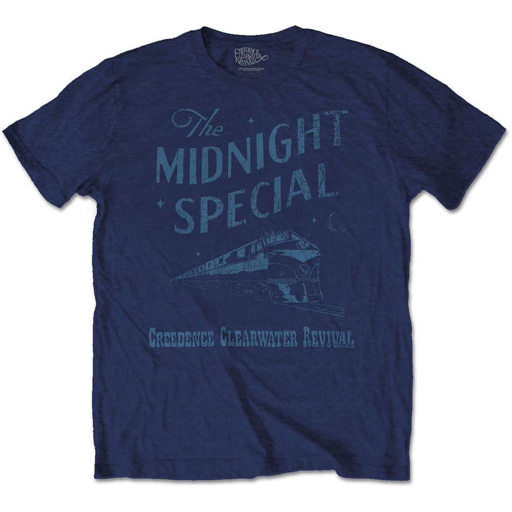 Creedence Clearwater Revival Unisex Tee: Midnight Special (Navy Blue) - House of Merch