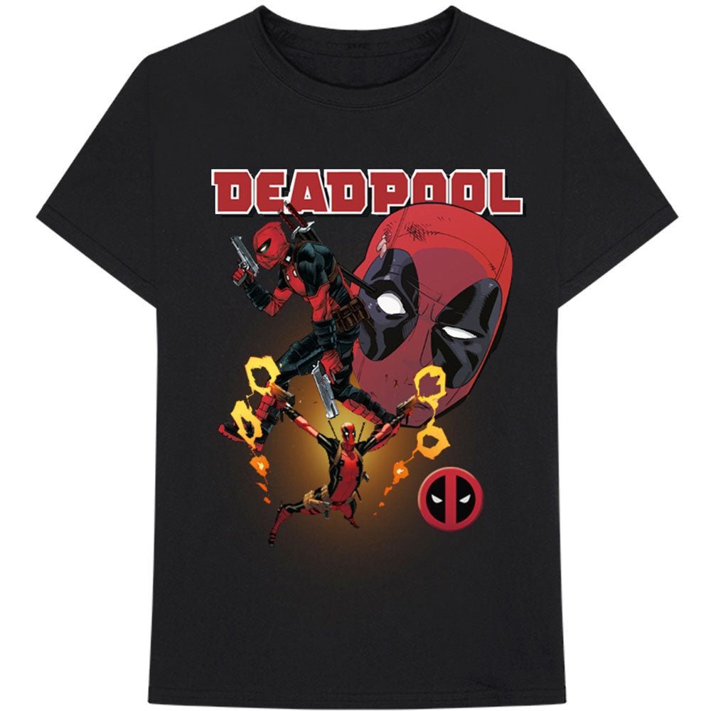 Marvel Comics Unisex Tee: Deadpool Collage 2 (Black) - House of Merch