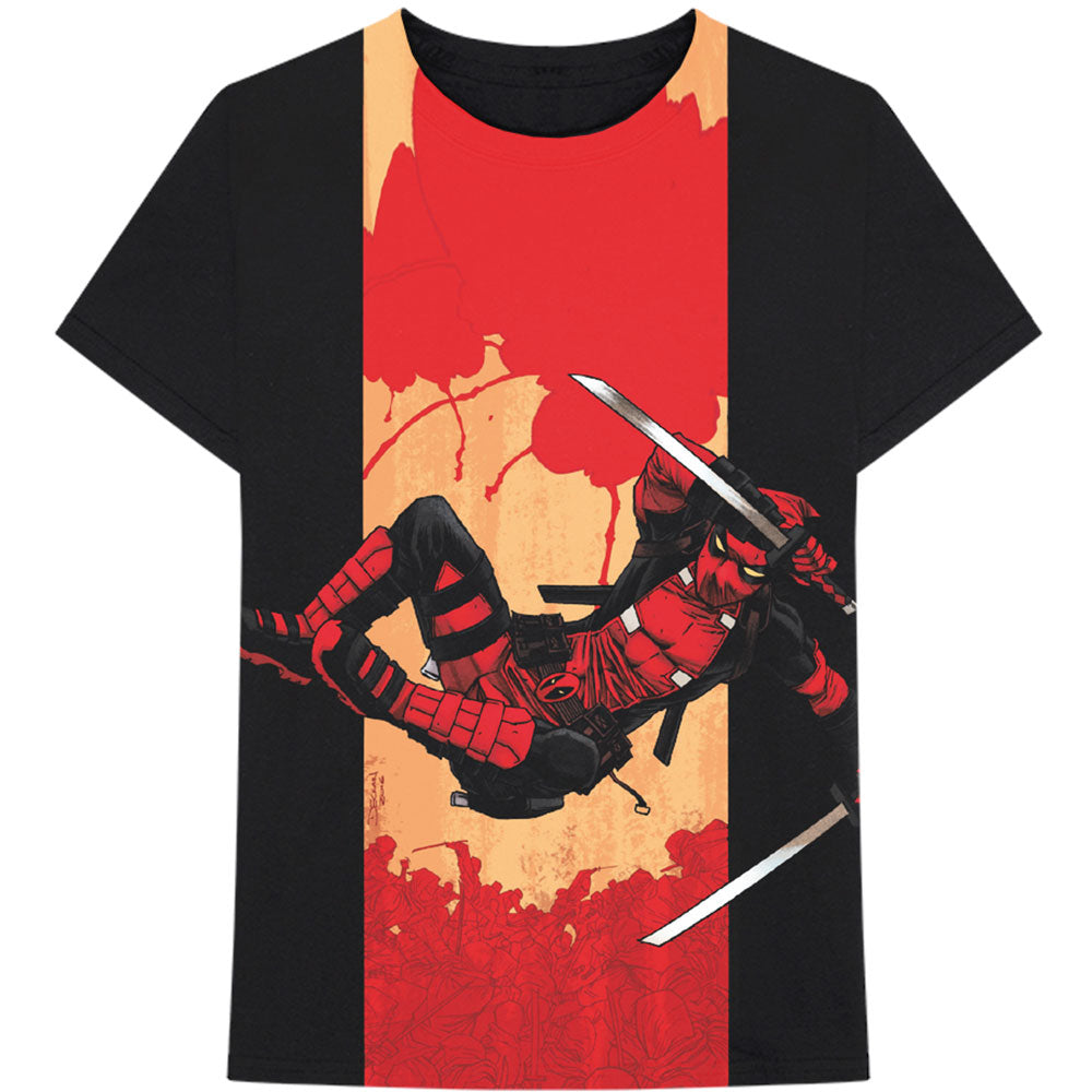 Marvel Comics Unisex Tee: Deadpool Samurai (Black) - House of Merch