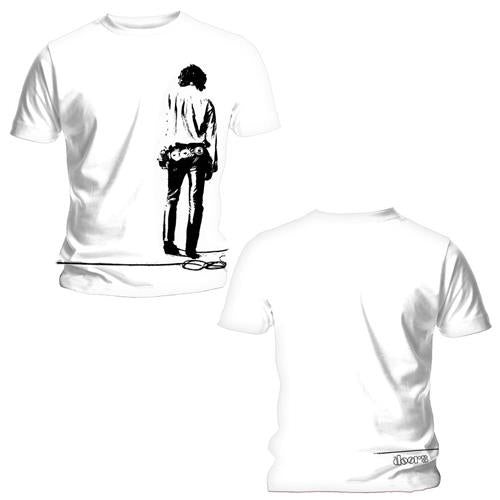 The Doors Unisex Tee: Solitary (Back Print) (White) - House of Merch