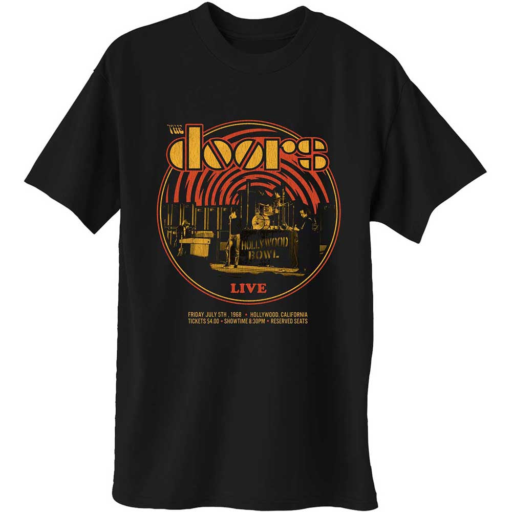 The Doors Unisex Tee: 68 Retro Circle (Black) - House of Merch