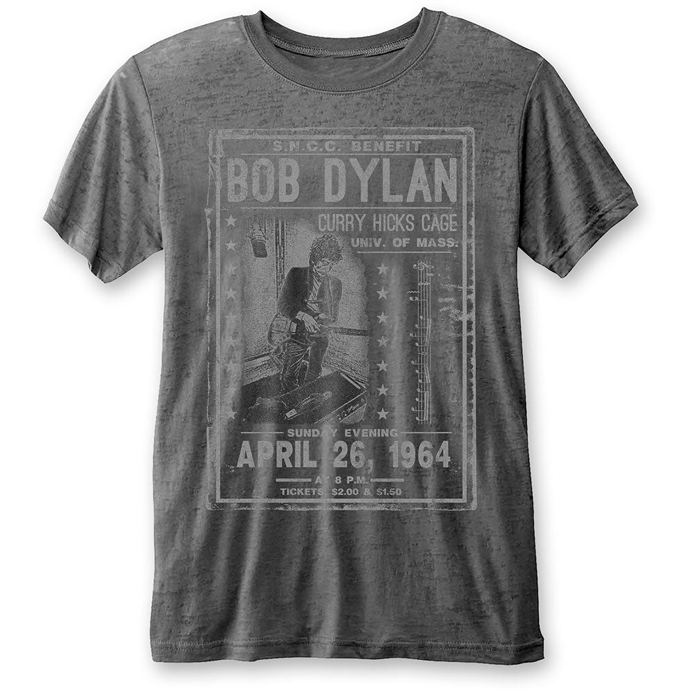 Bob Dylan Unisex Tee: Curry Hicks Cage (Burn Out) (Charcoal Grey) - House of Merch
