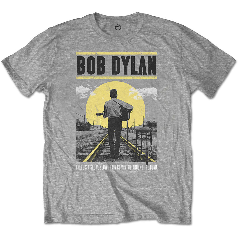 Bob Dylan Unisex Tee: Slow Train (Grey) - House of Merch