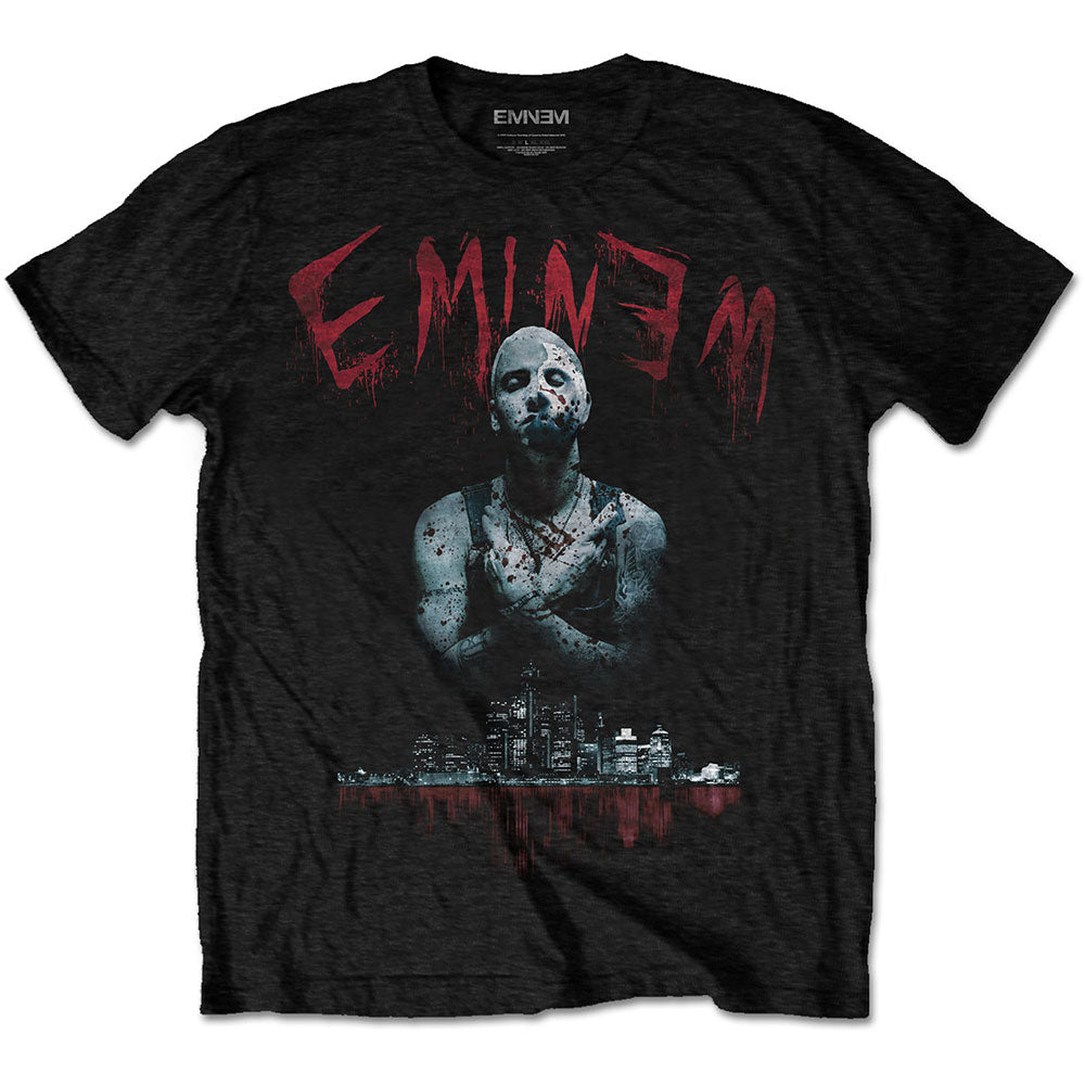 Eminem Unisex Tee: Bloody Horror (Black) - House of Merch