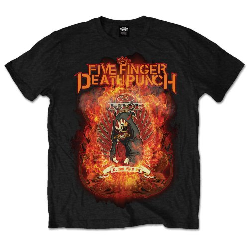 Five Finger Death Punch Unisex Tee: Burn in Sin (Black) - House of Merch