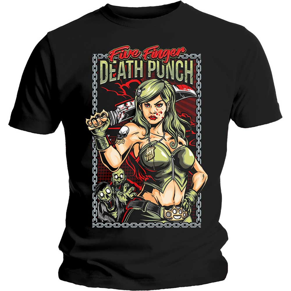 Five Finger Death Punch Unisex Tee: Assassin (Black) - House of Merch