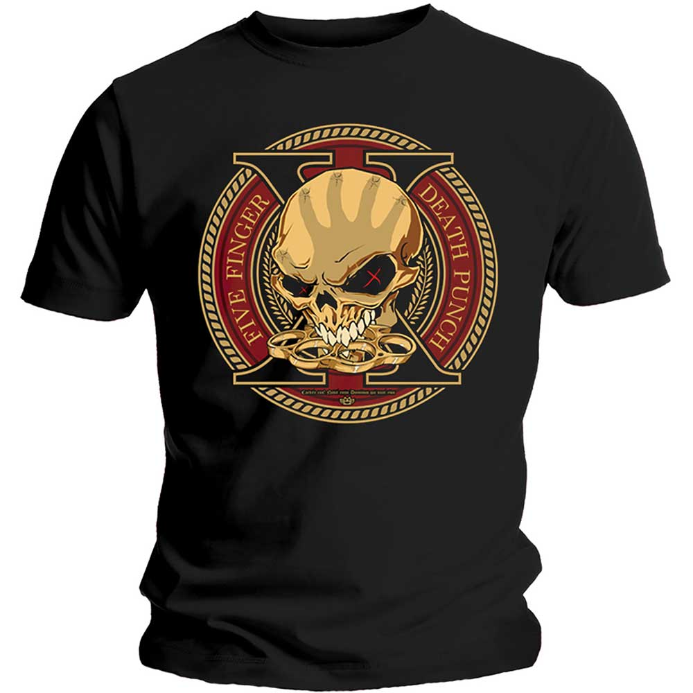 Five Finger Death Punch Unisex Tee: Decade of Destruction (Black) - House of Merch