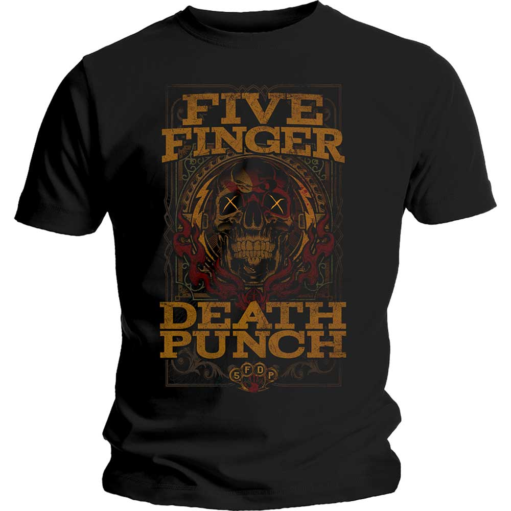 Five Finger Death Punch Unisex Tee: Wanted (Black) - House of Merch