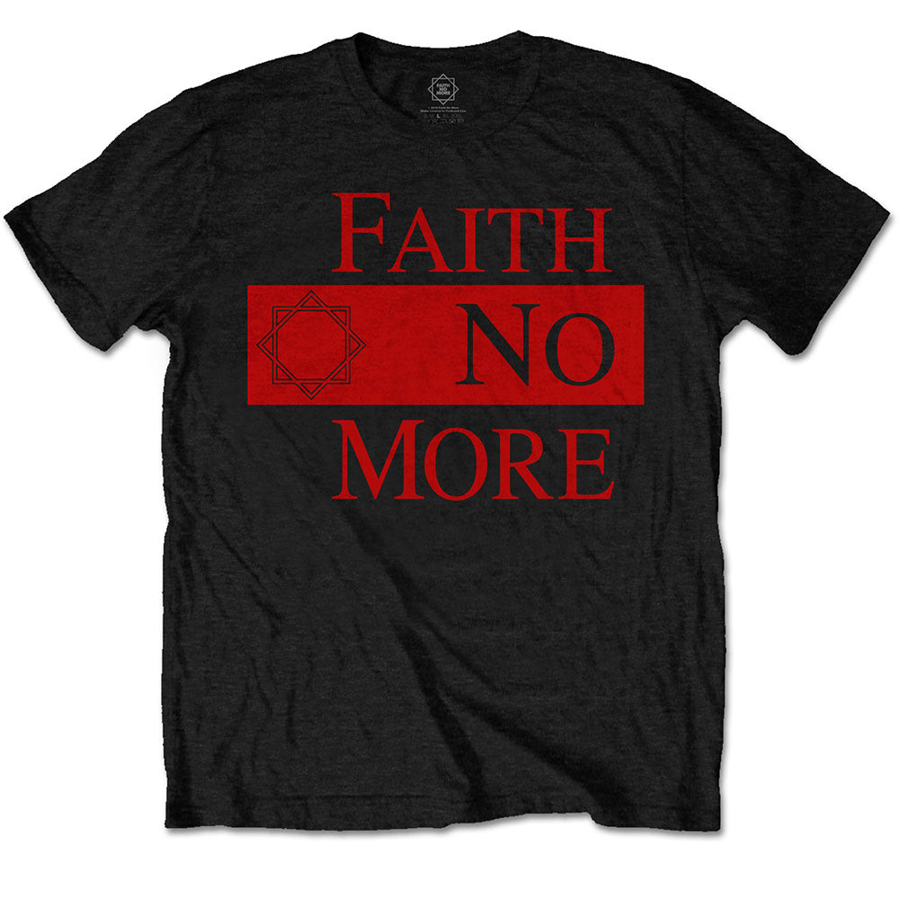 Faith No More Unisex Tee: Classic New Logo Star (Black) - House of Merch