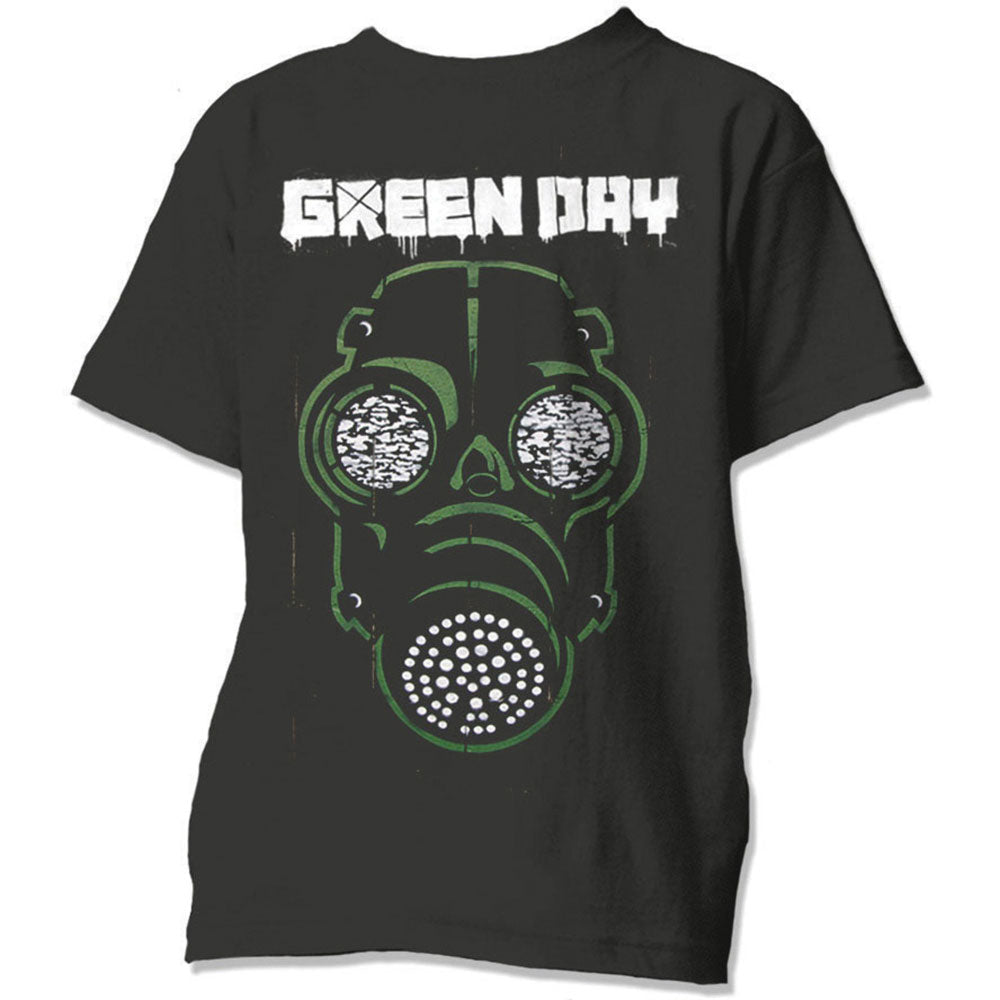 Green Day Unisex Tee: Green Mask (Black) - House of Merch