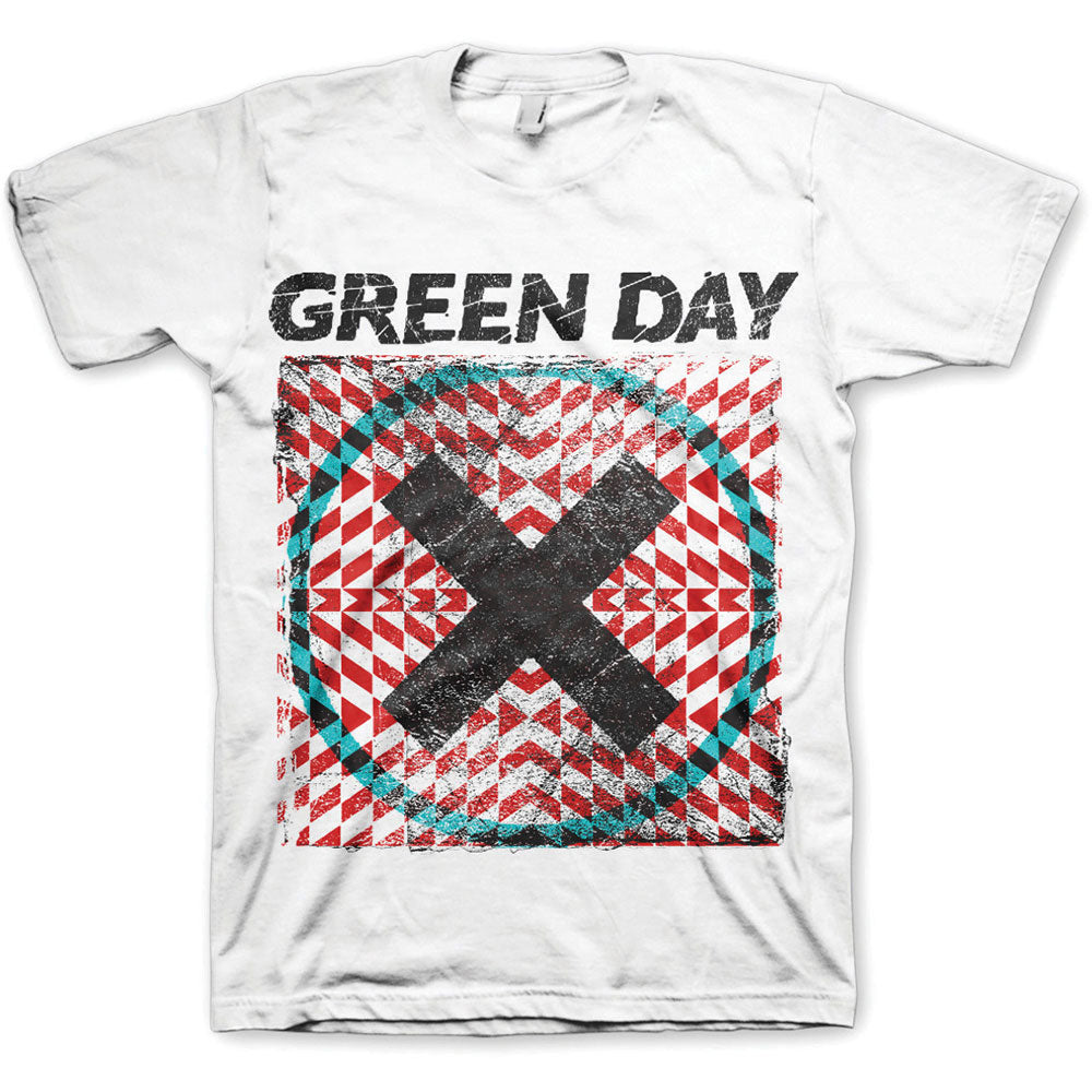 Green Day Unisex Tee: Xllusion (White) - House of Merch