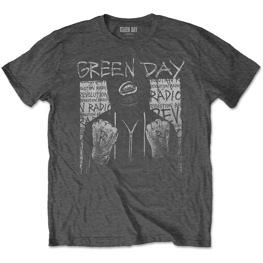 Green Day Unisex Tee: Ski Mask (Charcoal Grey) - House of Merch