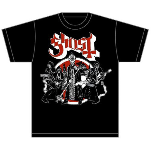 Ghost Unisex Tee: Road to Rome (Black) - House of Merch