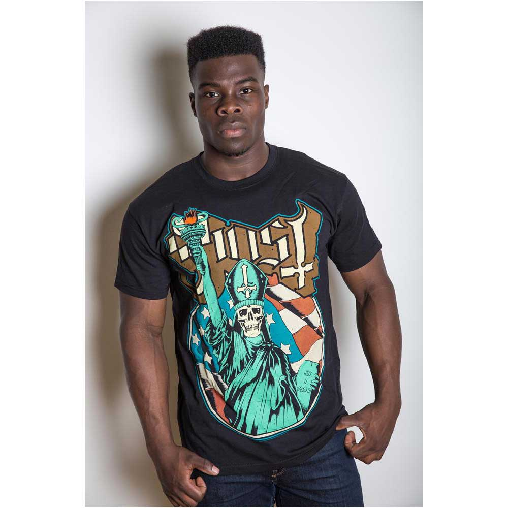 Ghost Unisex Tee: Statue of Liberty (Black) - House of Merch