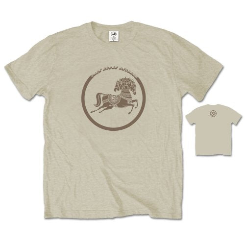 George Harrison Unisex Tee: Dark Horse (Back Print) (Sand) - House of Merch