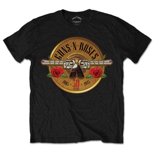 Guns N' Roses Unisex Tee: 30th Photo (Black) - House of Merch