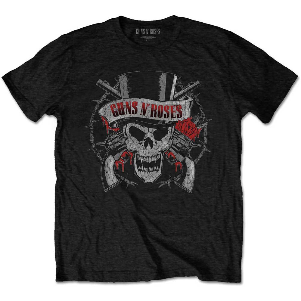 Guns N' Roses Unisex Tee: Distressed Skull (Black) - House of Merch