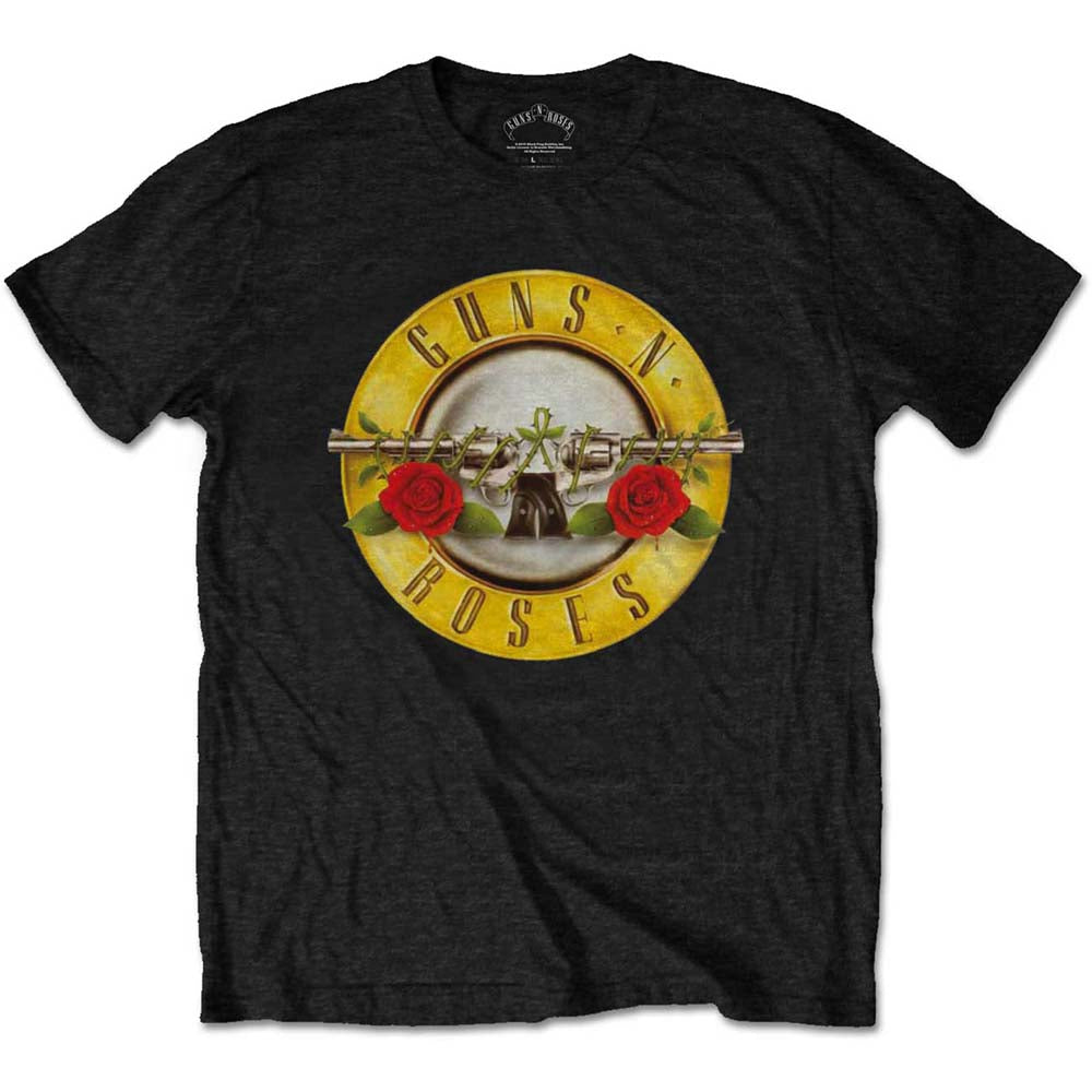 Guns N' Roses Unisex Tee: Classic Logo (Retail Pack) (Black) - House of Merch