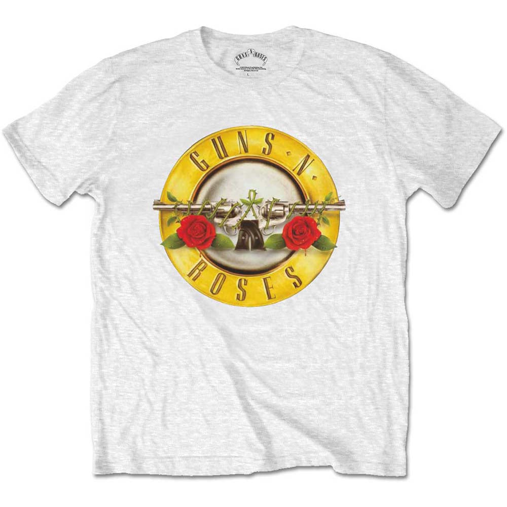 Guns N' Roses Unisex Tee: Classic Logo (Retail Pack) (White) - House of Merch