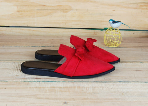 SnugOns Handcrafted Red Summer Mules