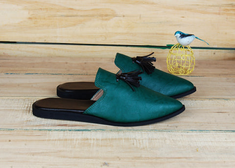 SnugOns Green Mule Slipons