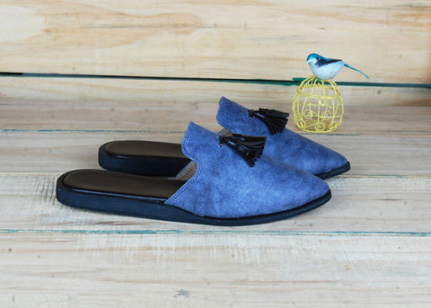 SnugOns Handcrafted Grey Summer Mule