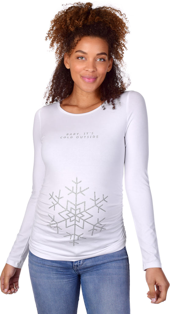 c919d6bbcd5 Baby It s Cold Outside Christmas Maternity Graphic Tee – Peaberry Maternity