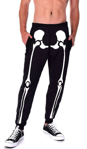 Glow in the Dark Halloween Skeleton Men's Pants