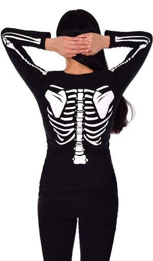Love Connection - Glow in the Dark Maternity Halloween Skeleton Top