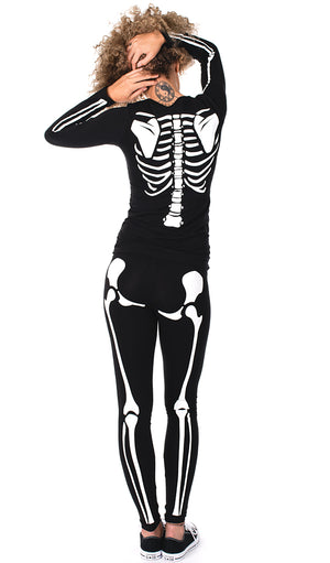Baby Girl Love Connection - Glow in the Dark Maternity Halloween Skeleton Costume