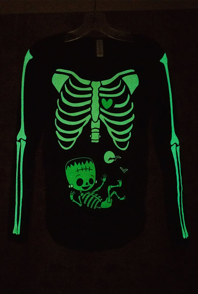 Franken Baby - Glow in the Dark Maternity Halloween Skeleton Costume