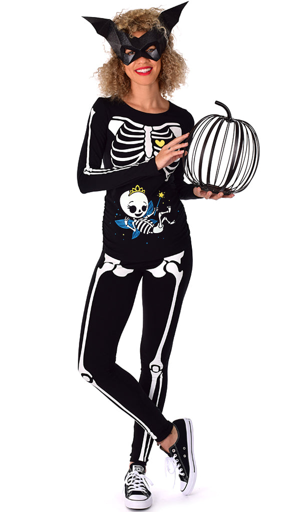 Fairy Princess - Glow in the Dark Maternity Halloween Skeleton Costume