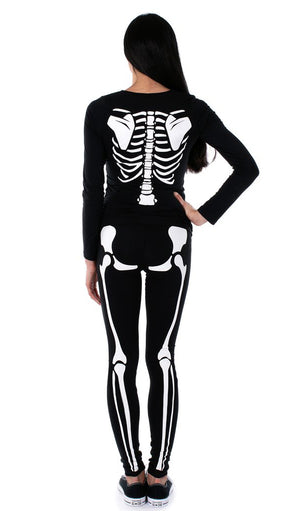 Little Devil - Glow in the Dark Maternity Halloween Skeleton Costume
