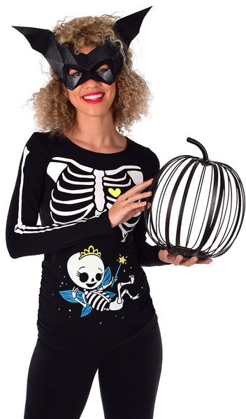Fairy Princess - Glow in the Dark Maternity Halloween Skeleton Top