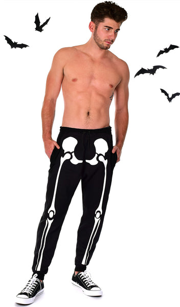 Glow in the Dark Halloween Skeleton Men's Costume