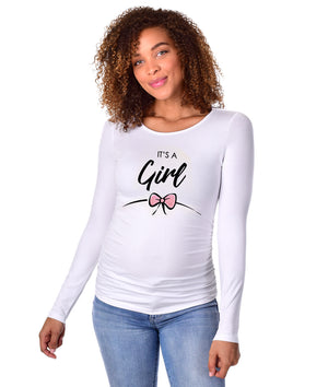 It's a Girl ! - Long Sleeve Maternity Shirt